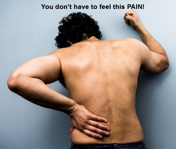 Lower Back Pain Relief Man Suffering