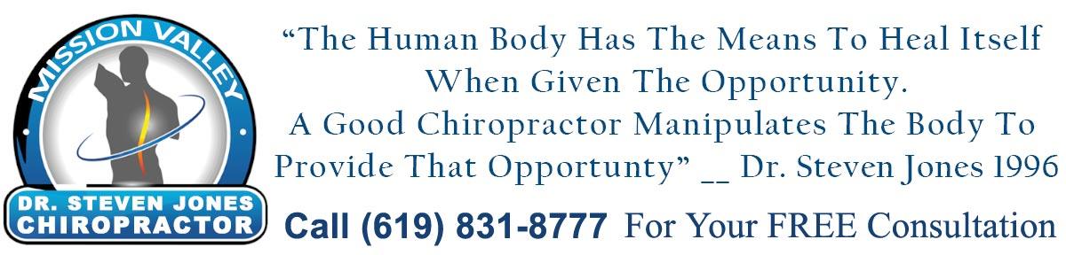 Chiropractor San Diego Dr. Steve Jones Chiropractic Spine Specialist