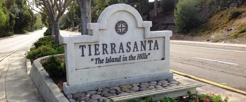 Entrance Marker to Tierrasanta, San Diego, CA